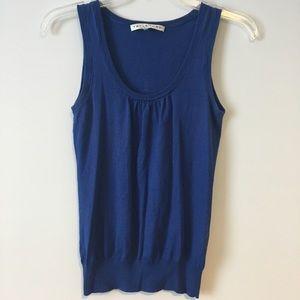Trina Turk Royal Blue Sleeveless Knit Blouse